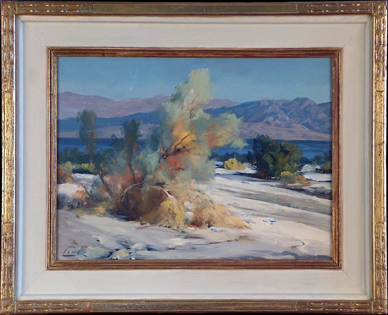 Ralph Love Near the Salton Sea with Frame