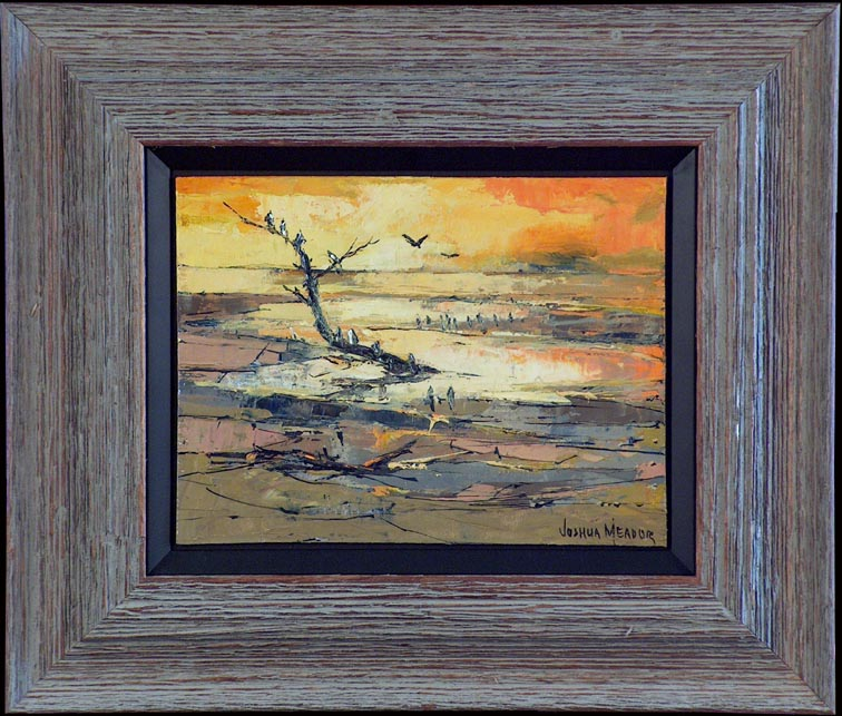Joshua Meador Estuary Seabirds with Frame
