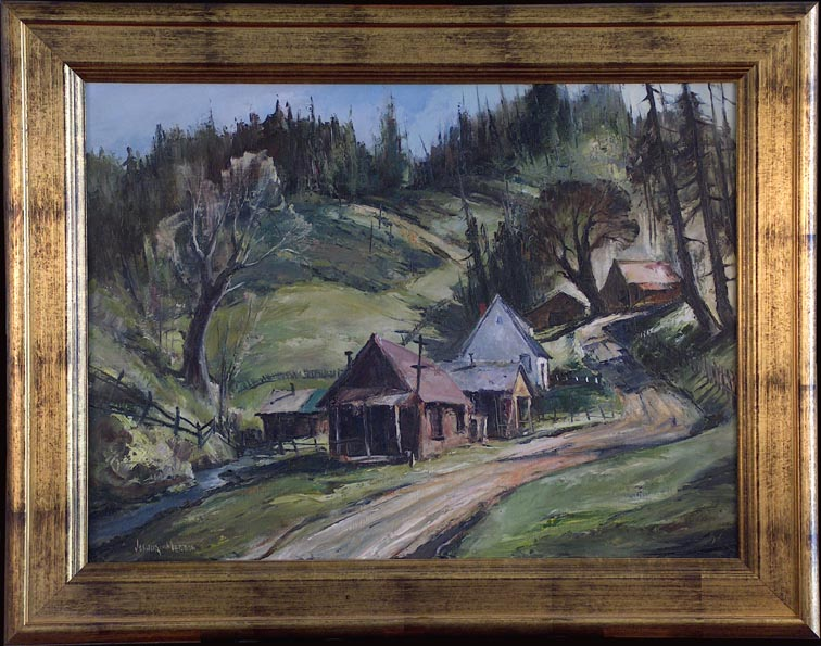 Joshua Meador Hill Village with Frame