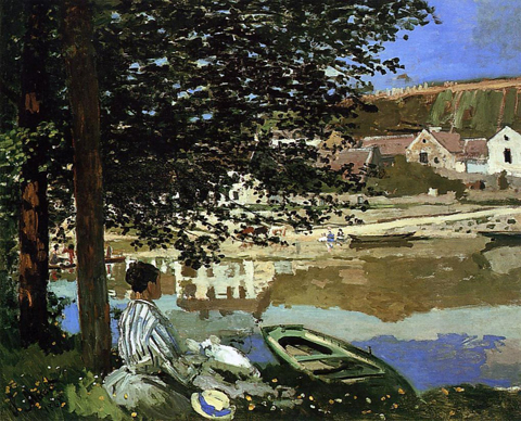 Claude Monet Banks of the Seine Bennecourt 1868