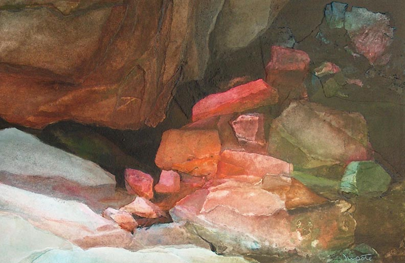 Alexander Nepote Colorful Cliff Grotto Closeup
