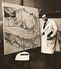 Edgar Payne in Paris Studio