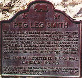 Peg Leg Memorial Plaque