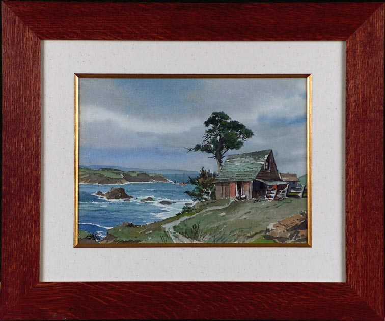 James March Phillips Along the Coast Mendocino with Frame