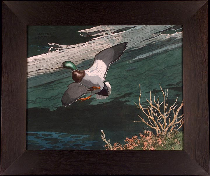 James March Phillips Mallard Watercolor with frame