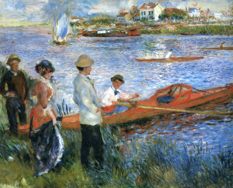 Pierre Auguste Renoir Oarsment at Chatou