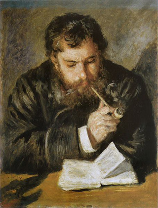 Claude Monet Portrait by Pierre Auguste Renoir