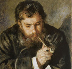 Claude Monet's portrait by Pierre Austuste Renoir