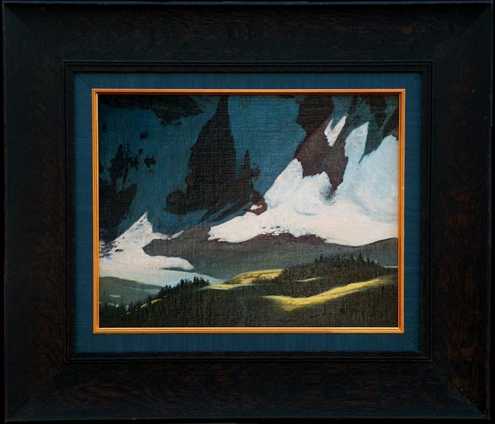 "Robert Rishell ""Mountain Trail"" with frame"