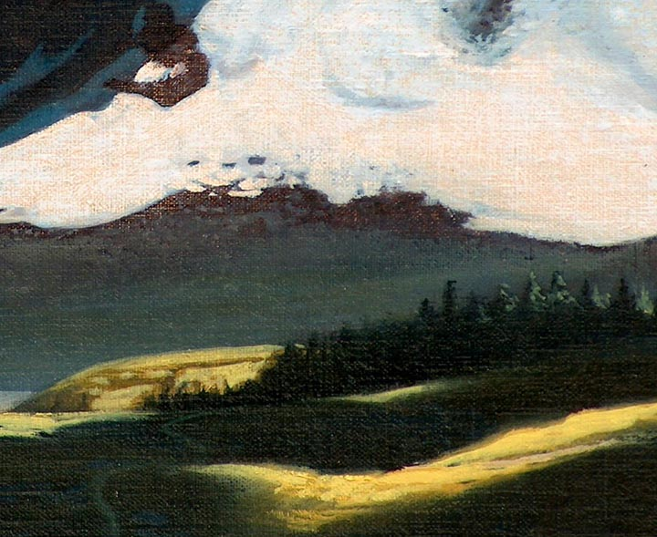 "Robert Rishell ""Mountain Trail"" closeup"