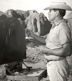Robert Rishell Painting in the Mojave