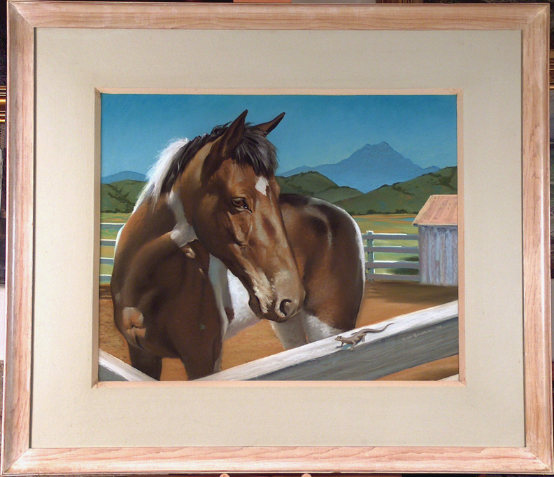Robert Rishell Princess Family Horse with Frame