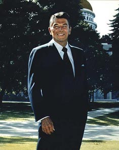 Robert Rishell's Portrait of Ronald Reagan