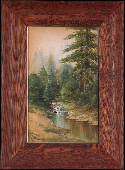 Marius Schmidt California Redwoods and Stream with frame