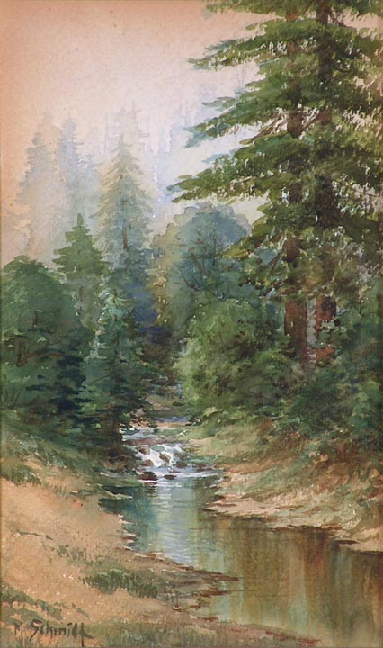 Marius Schmidt California Redwoods and Stream
