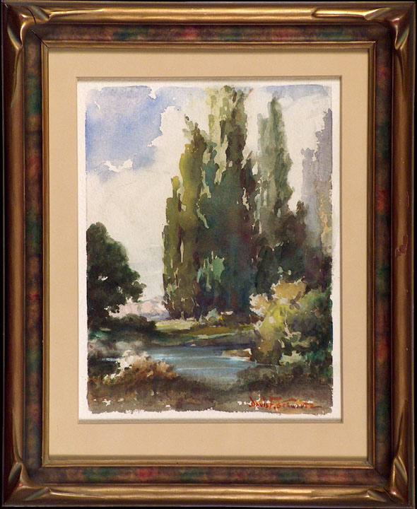 Davis Francis Schwartz Eucalyptus and River with Frame
