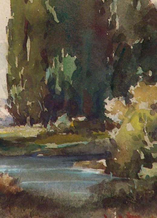Davis Francis Schwartz Eucalyptus and River Closeup