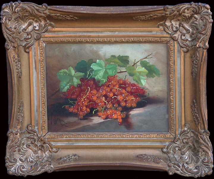 J Clinton Spencer Still Life of Currants with Frame