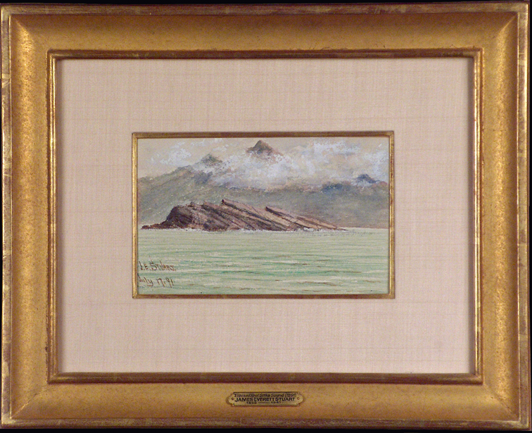 James Everett Stuart Exposed Reef Sitka 1891 with Frame