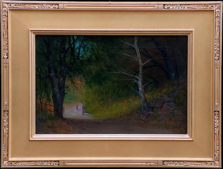 James Everett Stuart Road Oak and Bay Trees with Frame