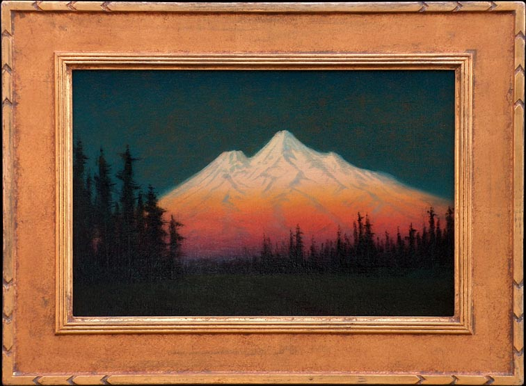 James Everett Stuart Mount Shasta 1921 with Frame