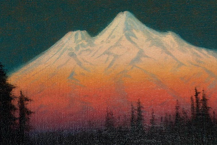 James Everett Stuart Mount Shasta 1921 Closeup