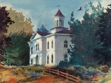 Schoolhouse from The Birds by Ron Sumner