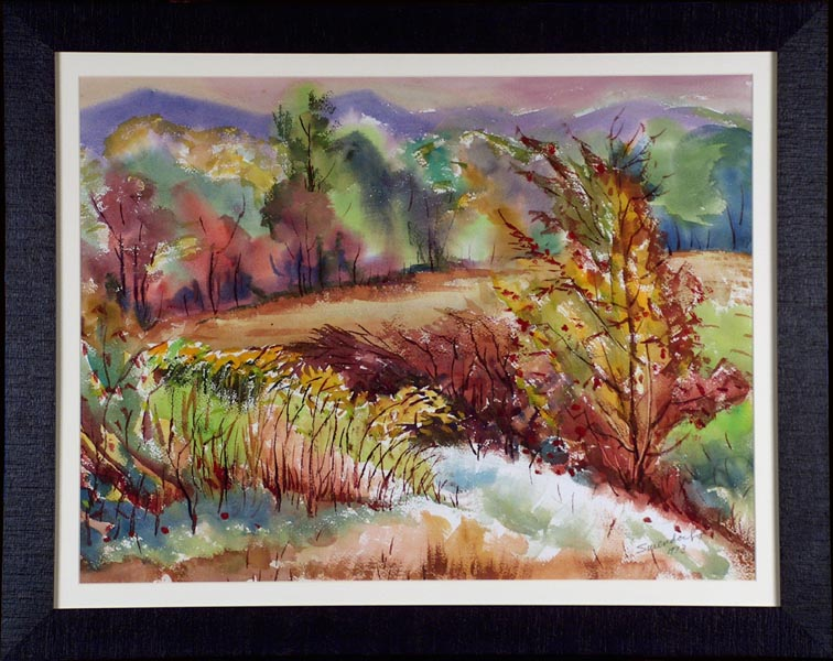 Charles Frederick Surendorf Colors of Autumn 1973 with Frame
