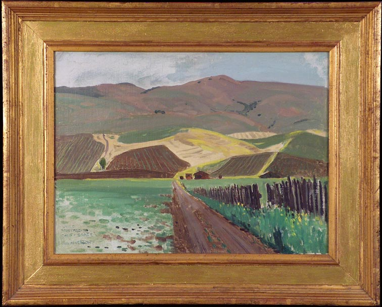 James Swinnerton Wild Mustard California Coast with Frame