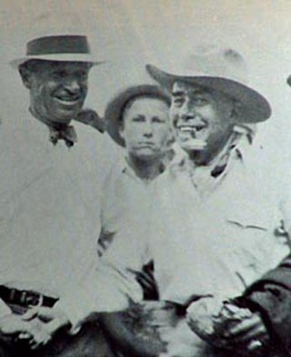 Jimmy Swinnerton with humorist Will Rogers