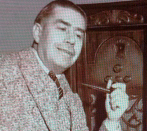 Jimmy Swinnerton Listening to the Radio