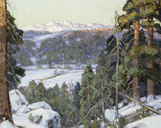 George Gardner Symons Pines in Winter