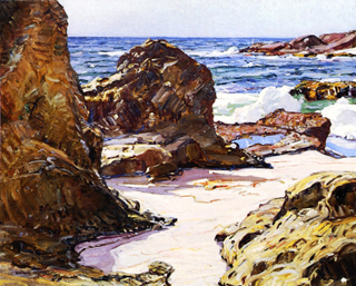 George Gardner Symons Rocks and Sea