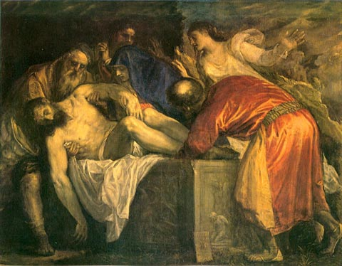 Titian The Entombment of Christ