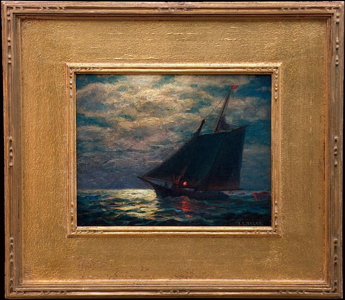 James Gale Tyler Nocturn Sailboat with frame