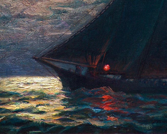 James Gale Tyler Nocturn Sailboat closeup