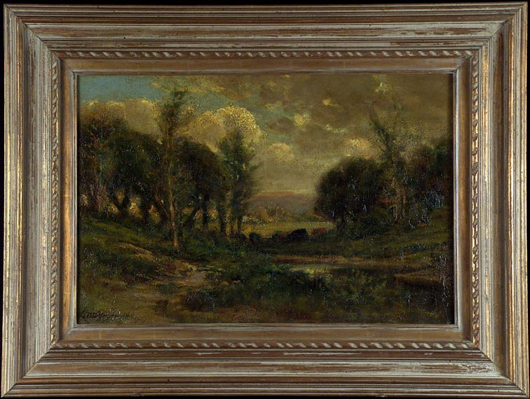 Manuel Valencia Atmospheric Landscape with Frame