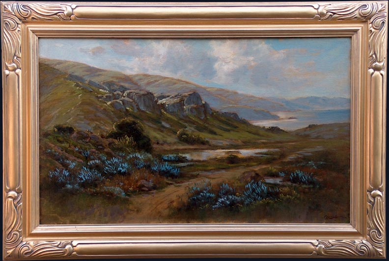 Manuel Valencia Lupines on the Northern Coast with frame