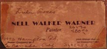 Nell Walker Warner Lulu Roses Business Card Verso