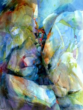 Jean Warren  Abstract Watercolor
