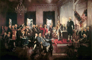 Washington at the Signing of the U.S. Constitution