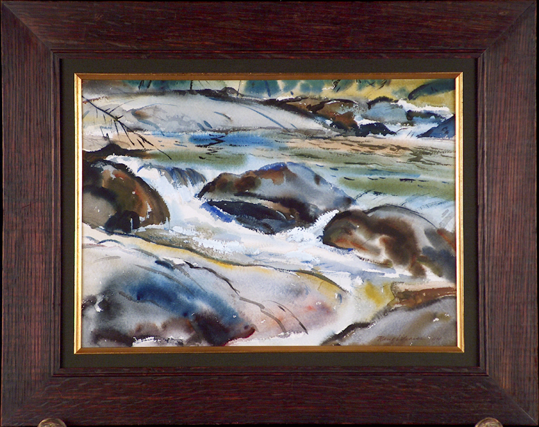 Rene Weaver Tuolumne River with Frame