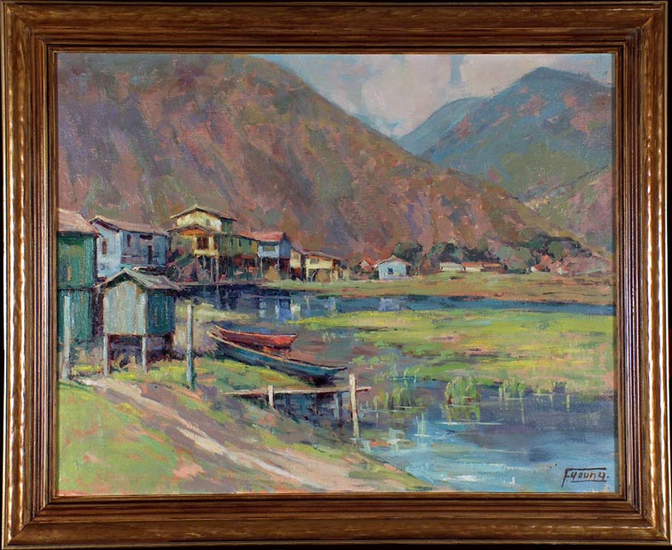 Florence Upson Young Alaskan Inlet with Frame