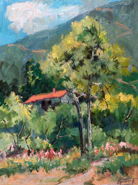 Florence Upson Young Cabin in the Foothills