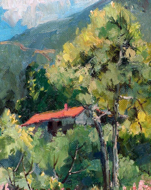 Florence Upson Young Cabin in the Foothills Closeup
