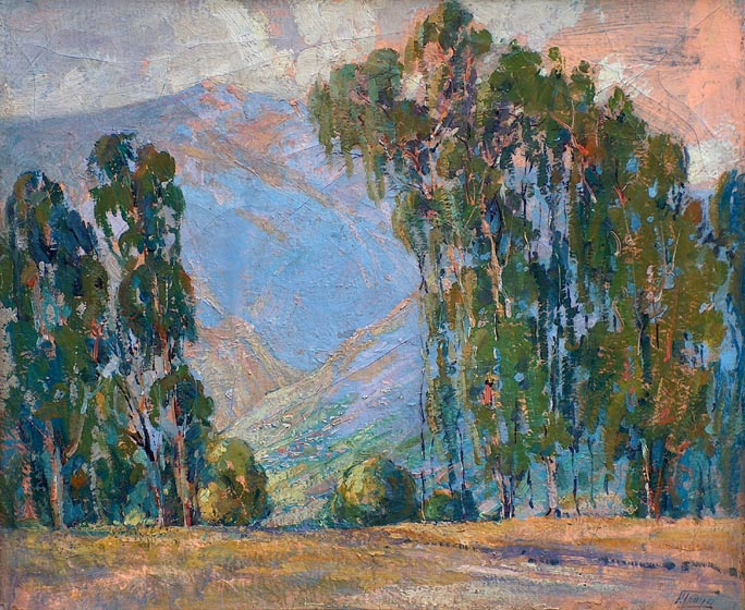 Florence Upson Young Eucalyptus and Hills California
