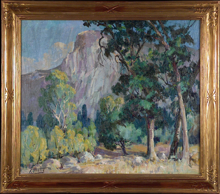 Florence Upson Young Half Dome Yosemite with Frame