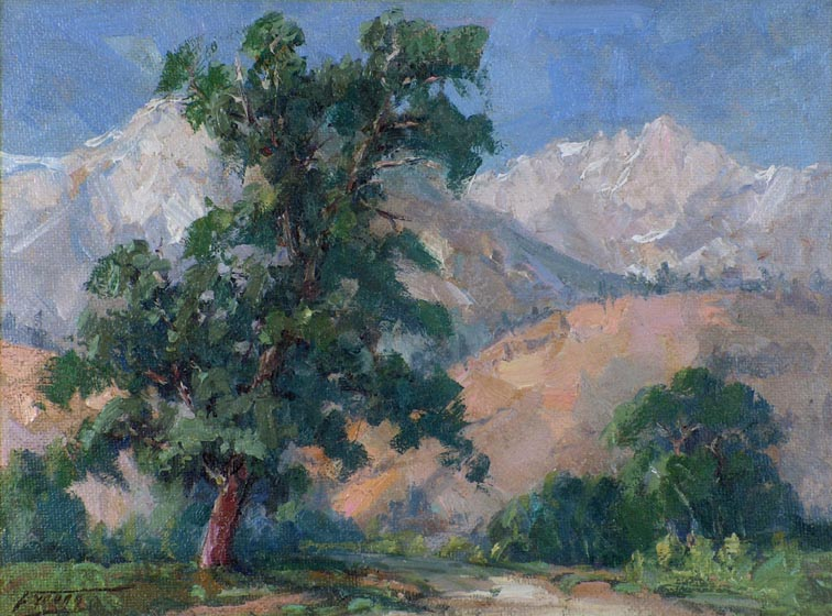 Florence Upson Young Tree and Mountain