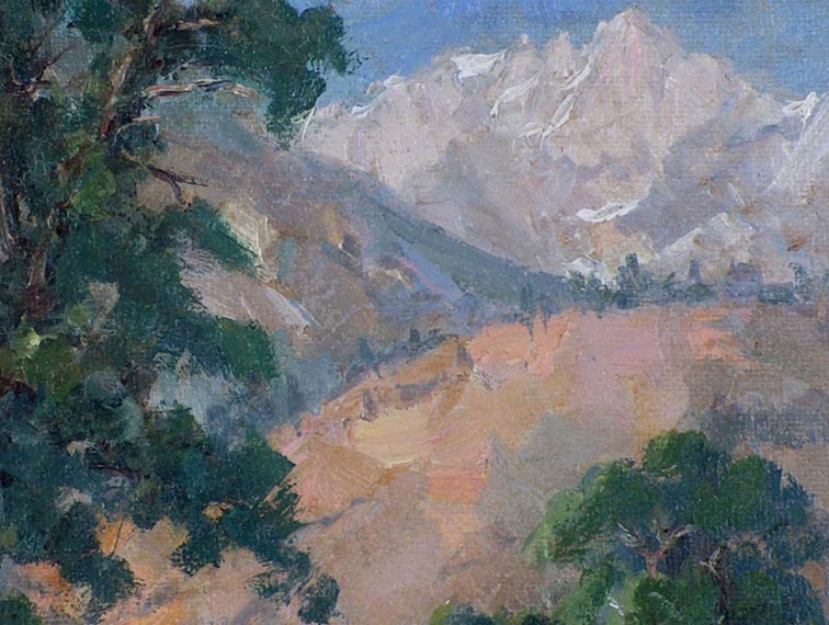 Florence Upson Young Tree and Mountain Closeup