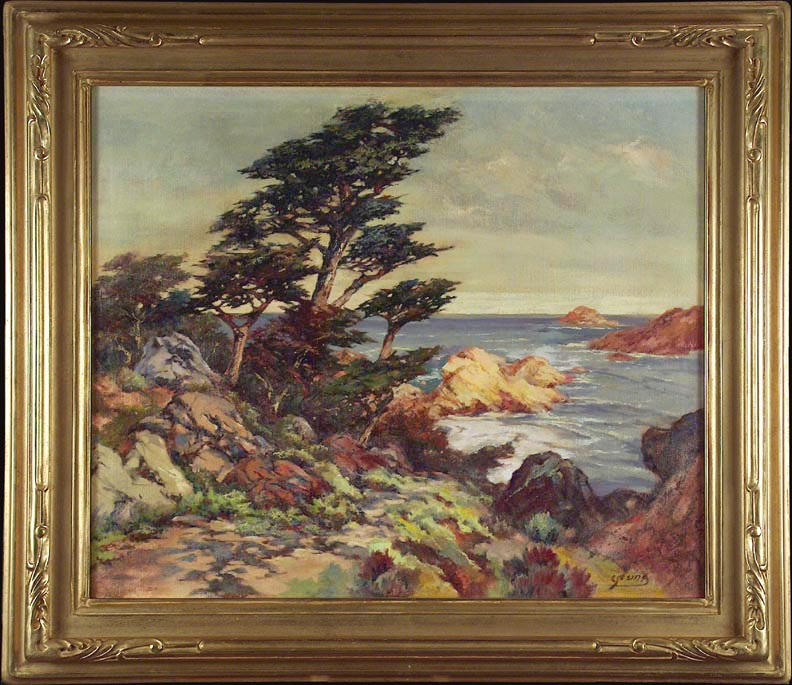 Frances Upson Young Cypress Cove with Frame